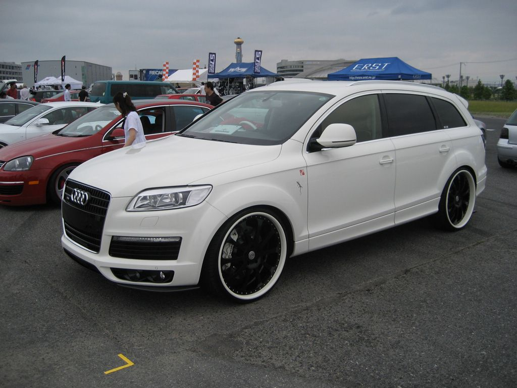 Audi Q7 With Custom Wheels Specs Iforged Ps Monaco Gloss A4 White Black Rims Centers Lips 24