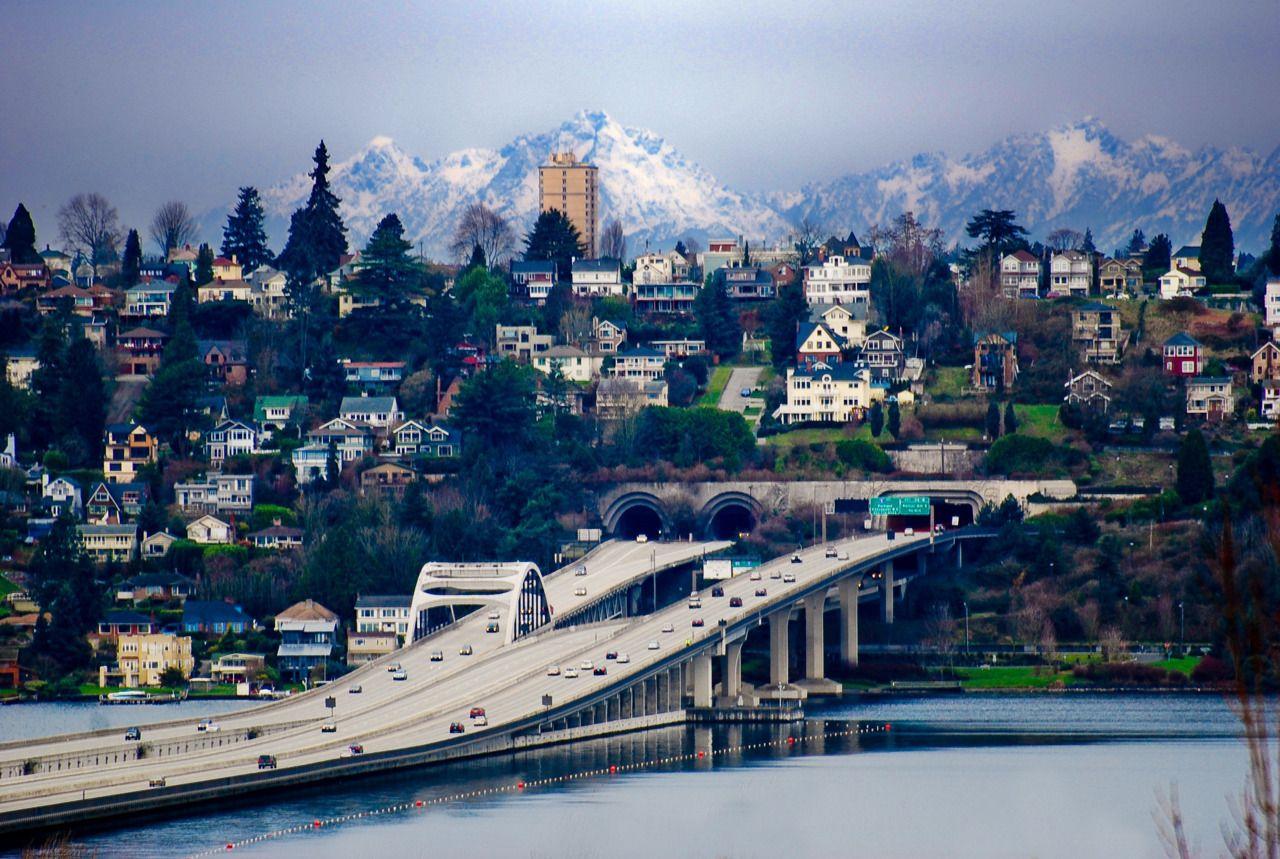 I 90 bridge looking to Seattle Seattle Portal