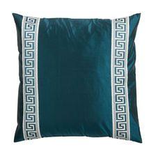 Greek Key Satin Dupioni Pillow