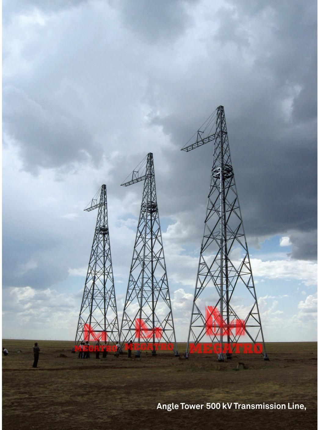 500kv Triple Angle Overhead Line Steel Tower This Photo Refers To