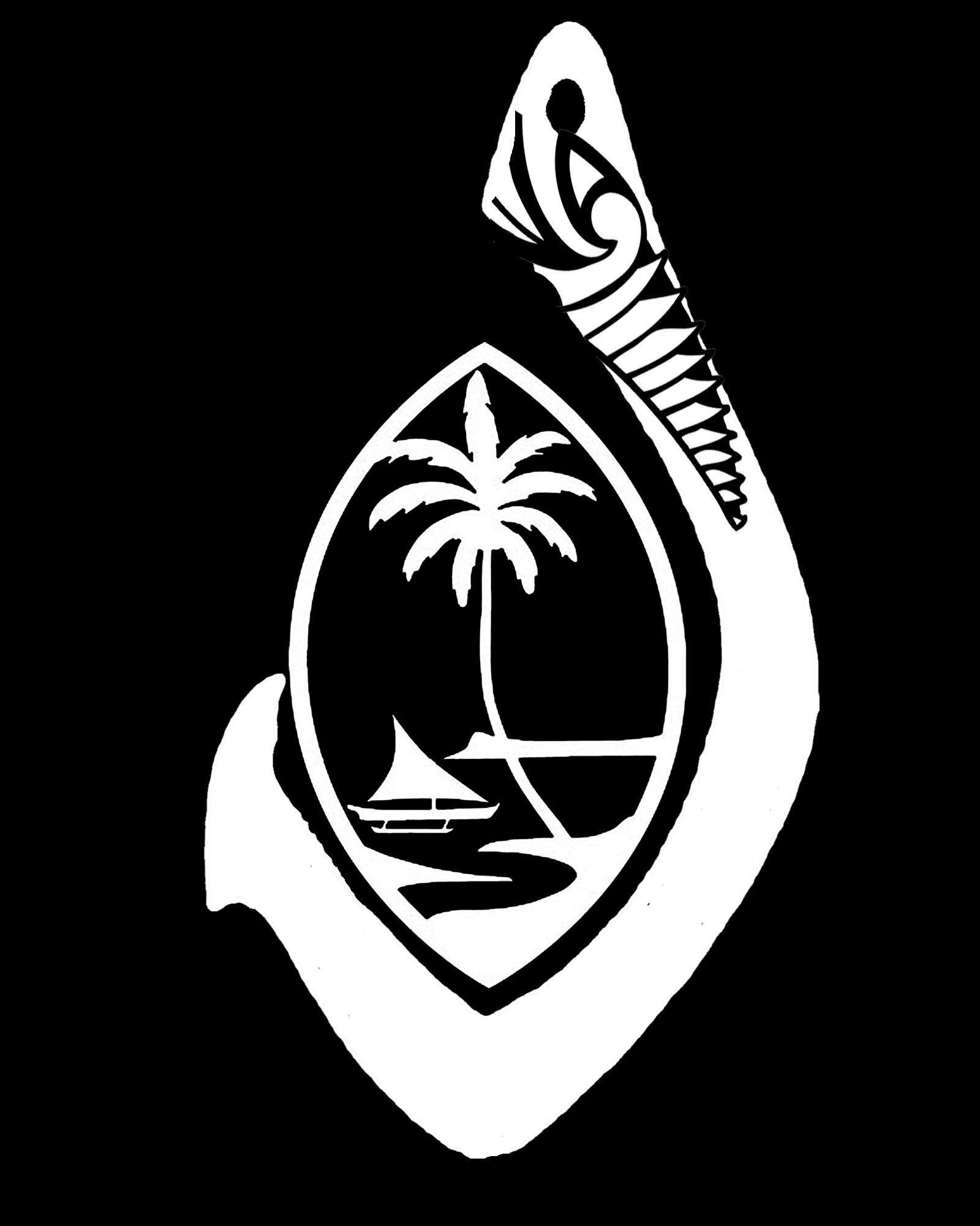 Guam seal with hook decal