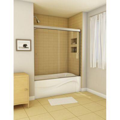 MAAX Canvas 59.5 in. x 55.5 in. Semi-Framed Sliding Tub/Shower Door ...