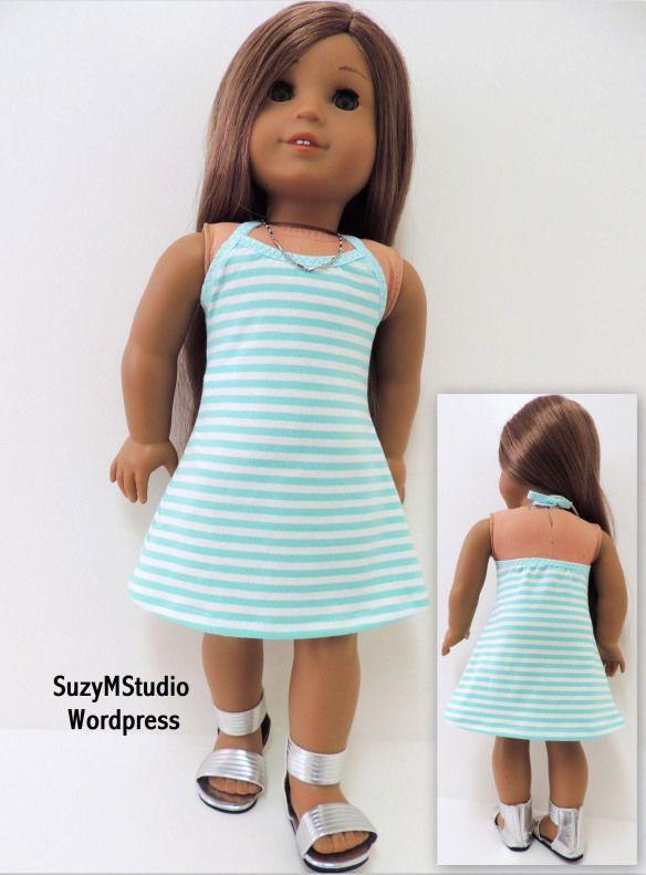 Knit Halter Dress PDF SuzyMStudio   Doll Clothes   Pinterest