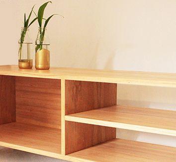 Mueble para tv vinilos equipo audio madera paraiso - Mueble para vinilos ...