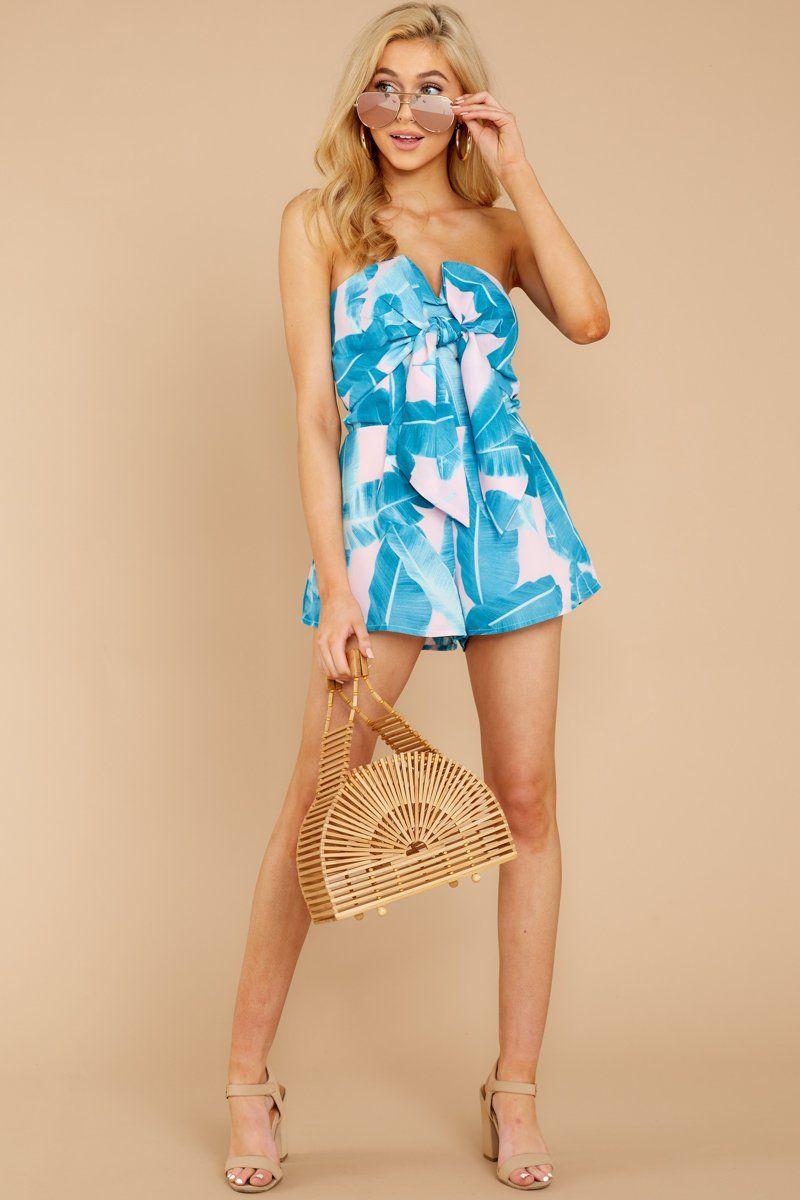 75030e18d Buddy Love Pink Palm Print Romper - Tie Front Romper - Onesie - $74.00 –  Red Dress Boutique