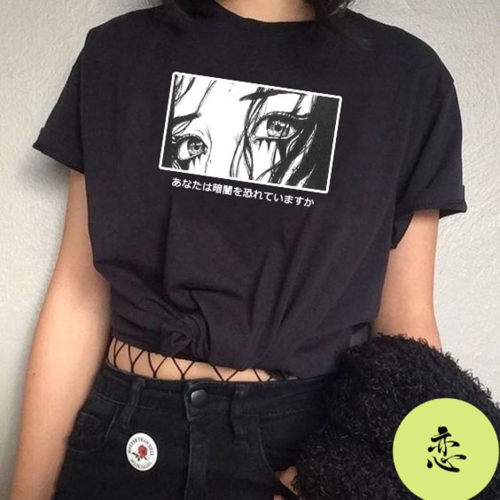 Are You Afraid Of The Dark Japanese T Shirt Shop Your Kind In 2020 Aesthetic T Shirts Aesthetic Shirts Aesthetic Clothes