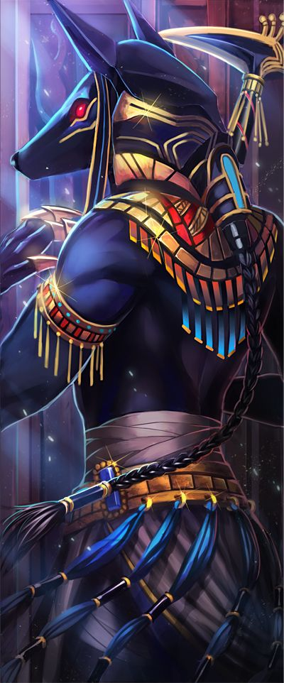 Anubis By Roania Id 9259278 Anubis In 2019 Egyptian Art