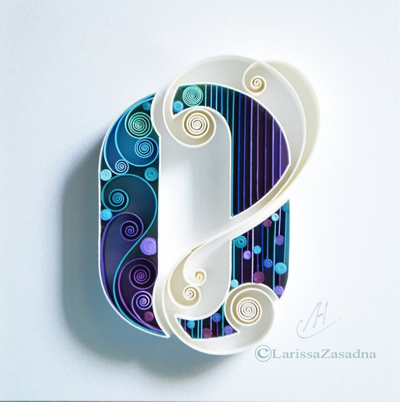 Letter O Quilling Wall Paper Art Custom Framed Monogram Personalized Quilling Wall Art Gift Quilling Art Home Decor Birthday Gift Quilling Letters Quilling Designs Paper Quilling Designs