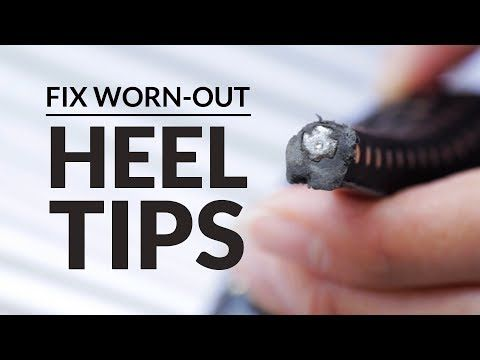 how to instantly repair high heel tips  shoe repair kit