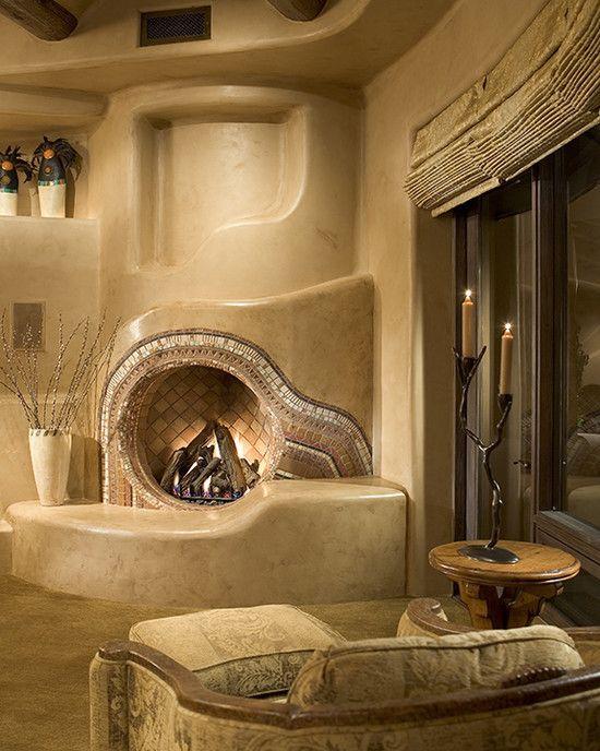 Really Cool Fireplace Cob House Earthship Home Adobe House