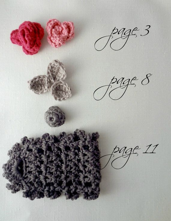 CROCHET PATTERN Sweet Roses Bracelet PDF Pattern - photo tutorial ...