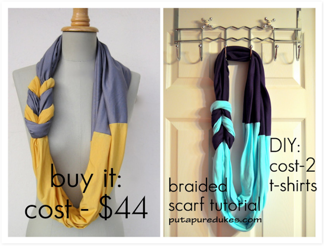 Do it yourself diy pinterest shirt scarves braided scarf and do it yourself solutioingenieria Images