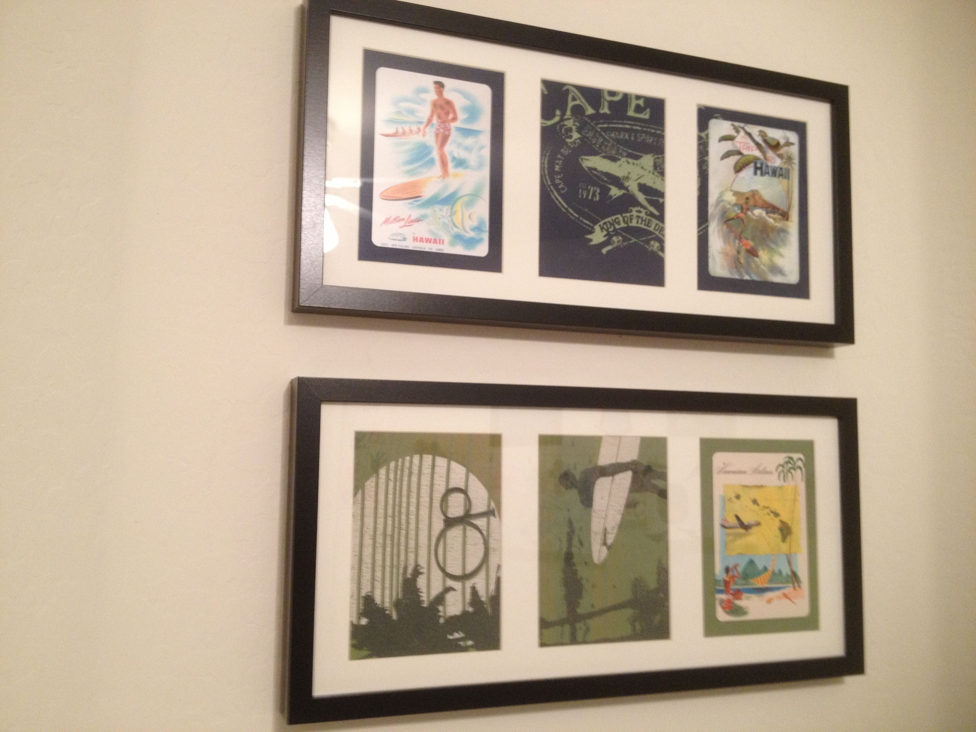 I Made These From 10 Ikea Frames Old Beach Themed T Shirts And