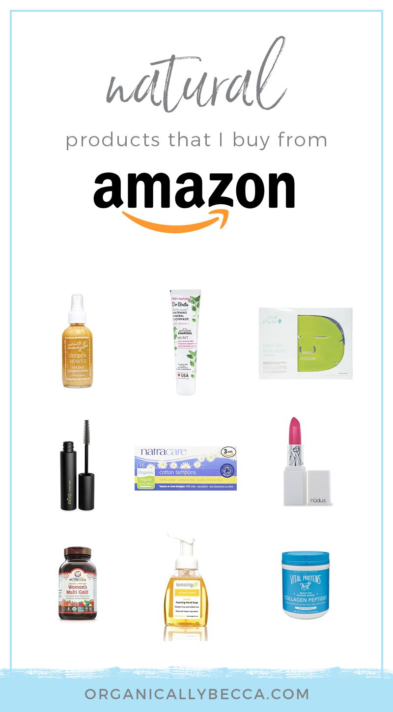 Natural Organic Products On My Amazon Com Shopping List With