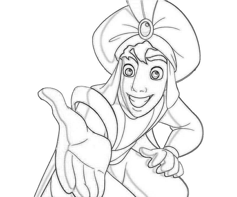 disneys aladdin and princess jasmine coloring pages 01