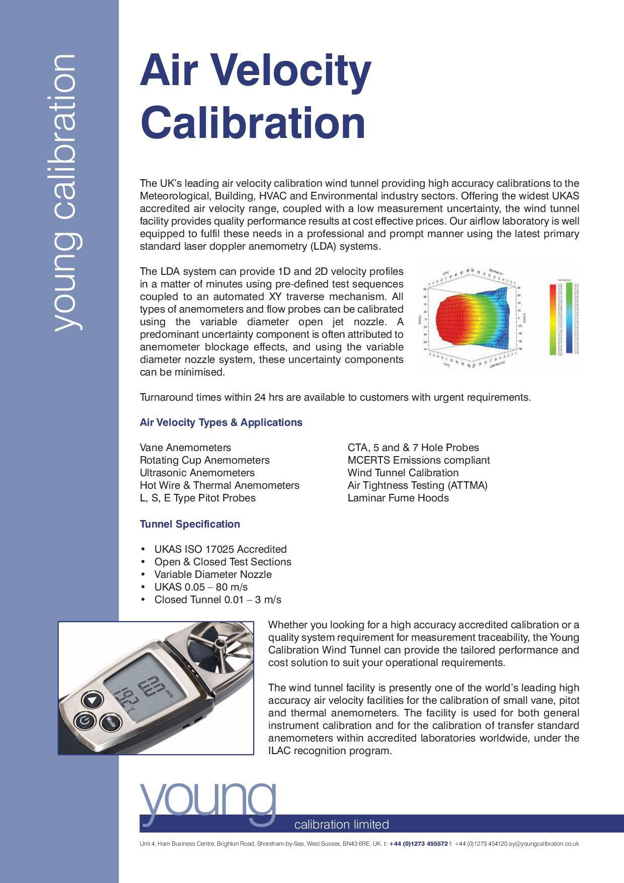 Ukas Air Velocity Calibration Services Velocity Anemometers Anemometer