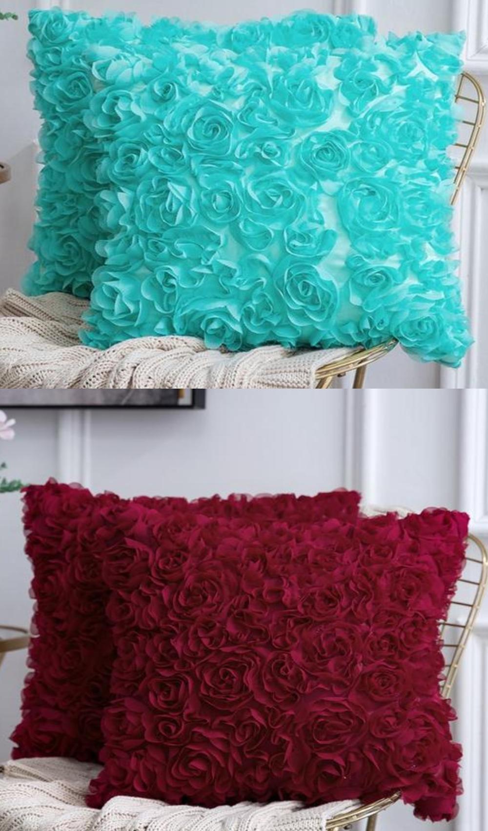 Pillow Sham Pink Cake Fabric Pillow
