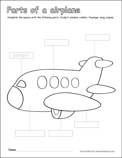 Parts of the airplane activity for kids in #preschool, # ...