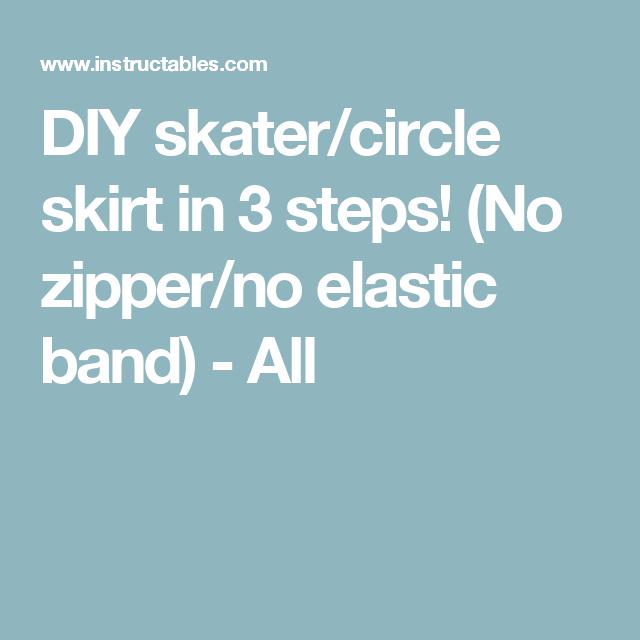 9670a38725 DIY skater circle skirt in 3 steps! (No zipper no elastic band) - All