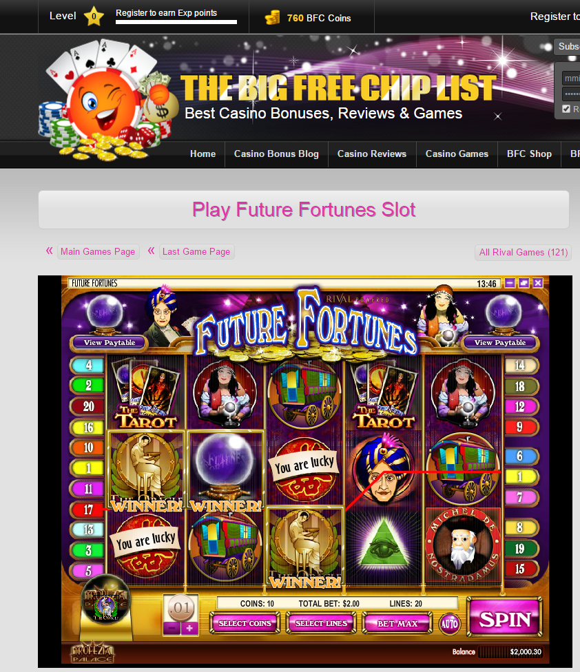 pinthe big free chip list on halloween casino slots | pinterest