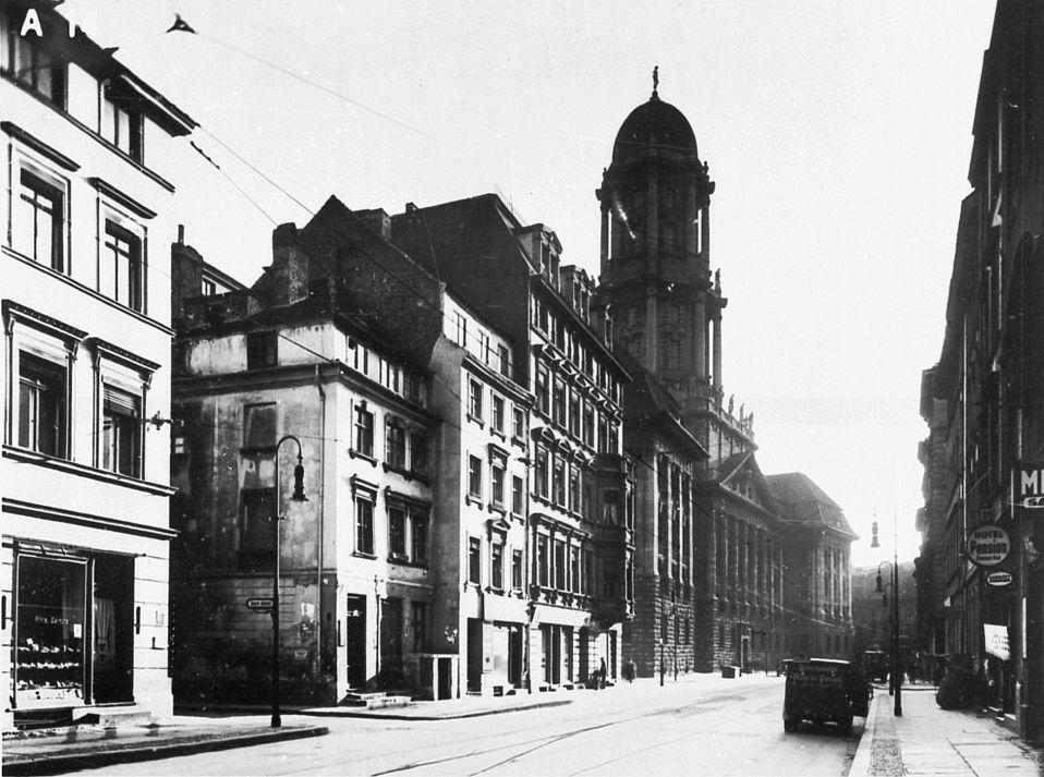1933 Juedenstrasse Stadthaus Links Eingang zum Grossen Juedenhof