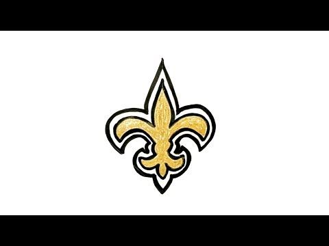 How To Draw The New Orleans Saints Logo How To Draw Stuff