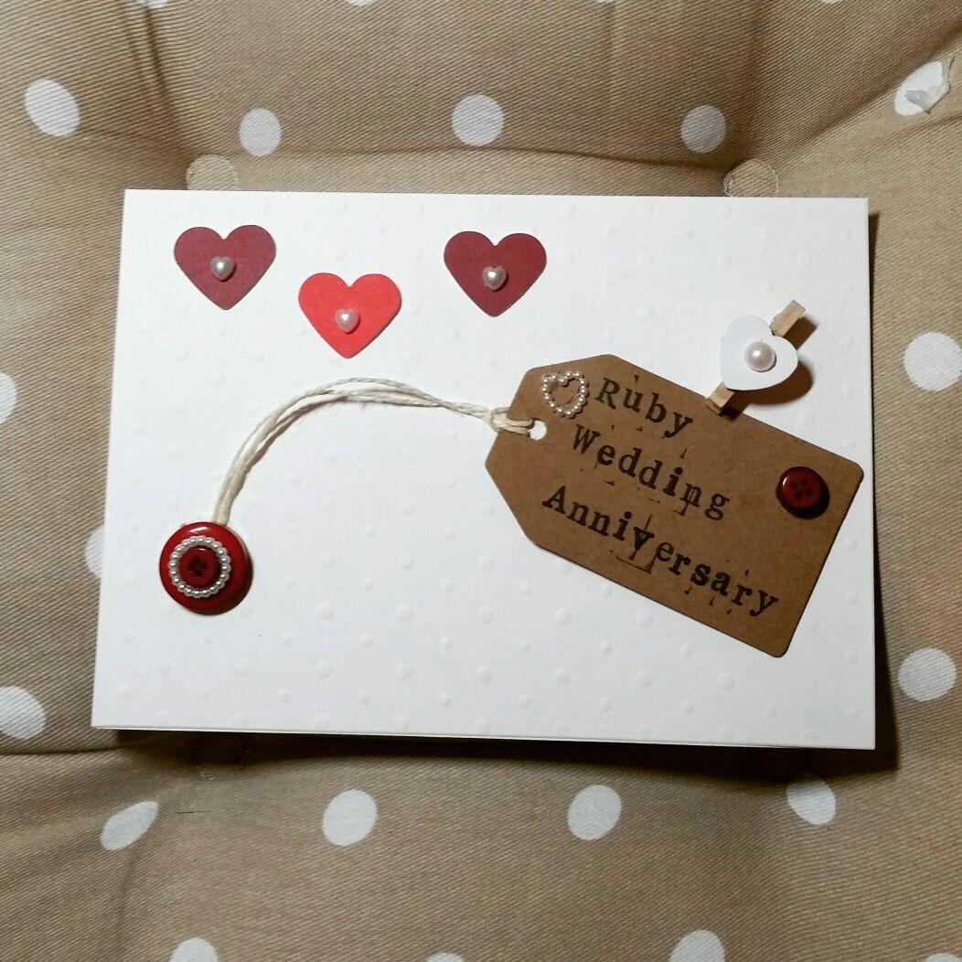 Ruby wedding anniversary handmadebylaura th anniversary party