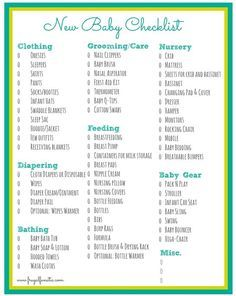 FREE Checklist of items that you will need to help care for your ...