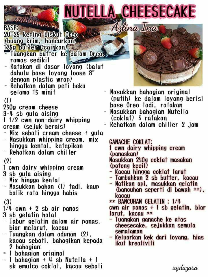 Nutella Cheesecake Cake Recipes Recipes Nutella Cheesecake