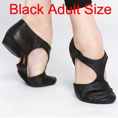 Women Jazz Dance Shoes Genuine Leather Stretch Ballet Teachers Dancing Sandals