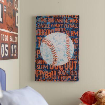 Baseball Words Canvas Art Print Canvas Art Prints Unique Canvas