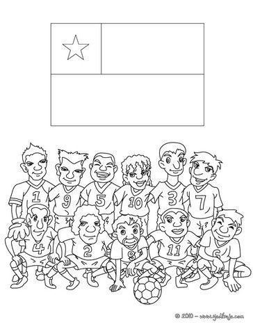Equipos de futbol para colorear equipo chile para pintar e imprimir ...