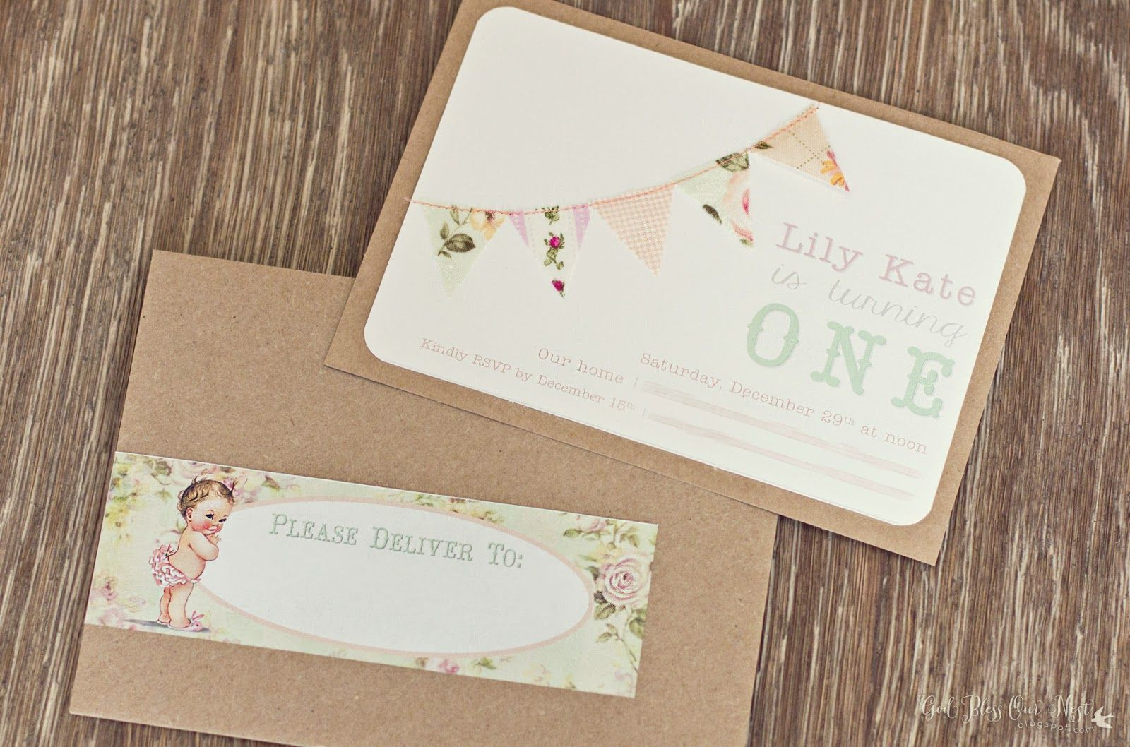 First birthday invitation DIY | Girl Birthday Ideas | Pinterest ...