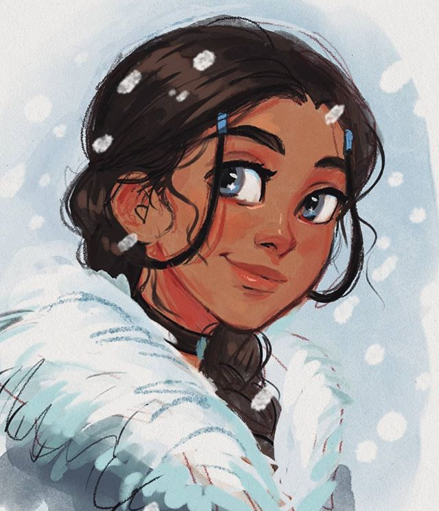 "@art_by_elliee on Instagram: ""Messy doodle of Katara because Avatar is now on US Netflix 😤👌 #avatar #katara #fanart #doodle #art #instaart #procreate #drawing"""