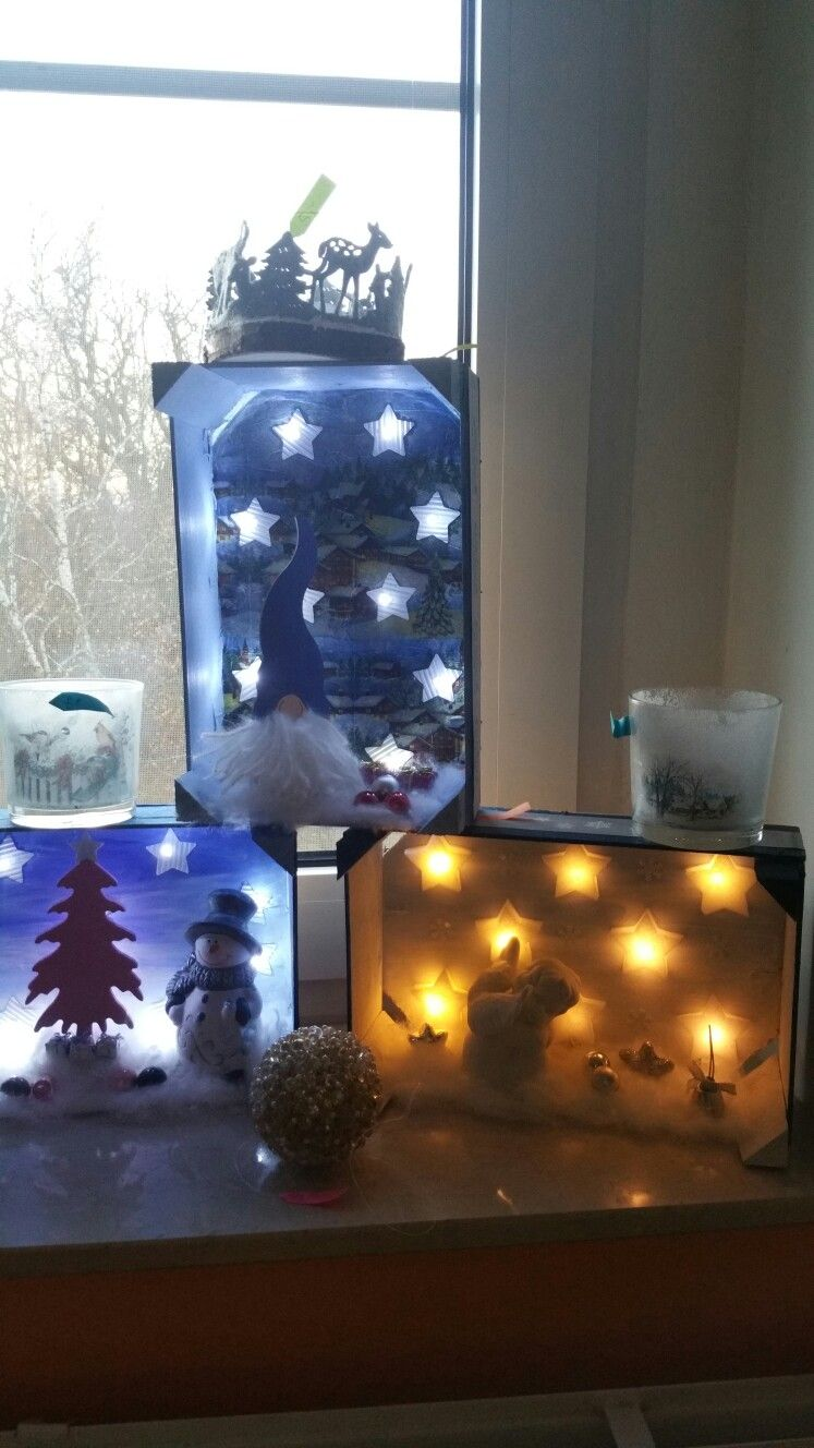 Winter in der mandarinenkiste weihnachten weihnachten kiste und basteln - Weihnachtsdekoration basteln mit kindern ...