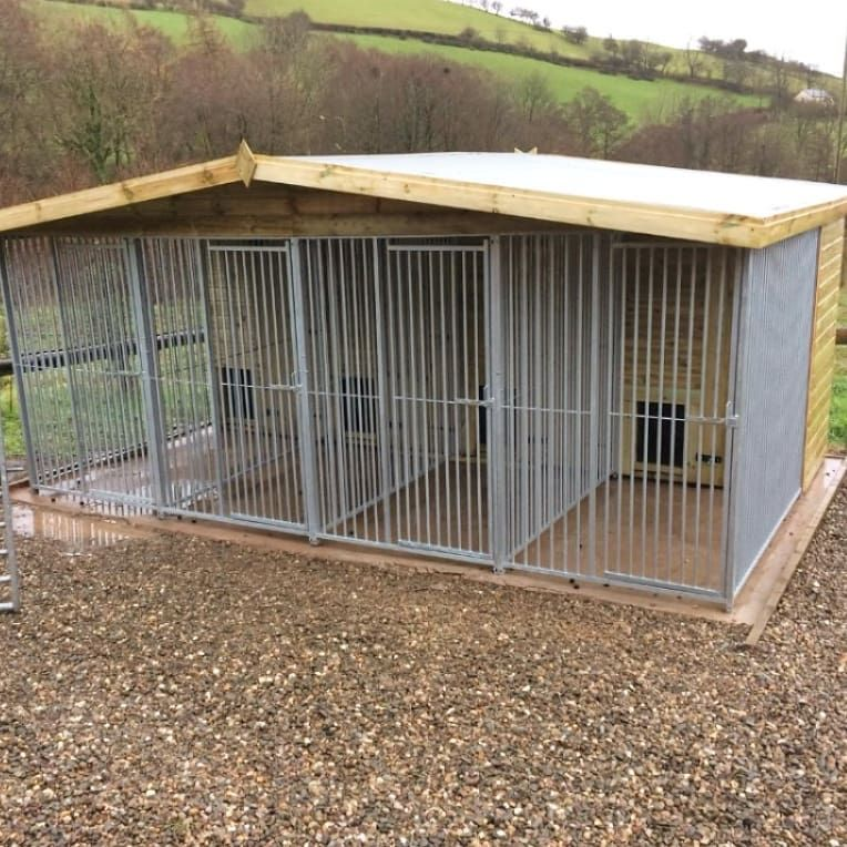 Our Bespoke 16 X 12 Ft 4 Bay Dog Kennel And Run This Unit Costs
