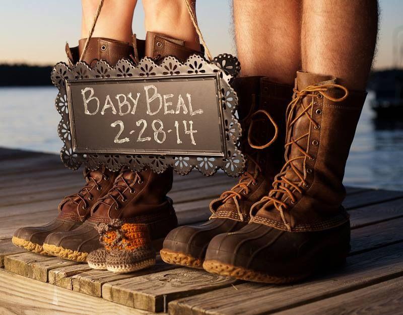 Ll bean boots, Baby announcement