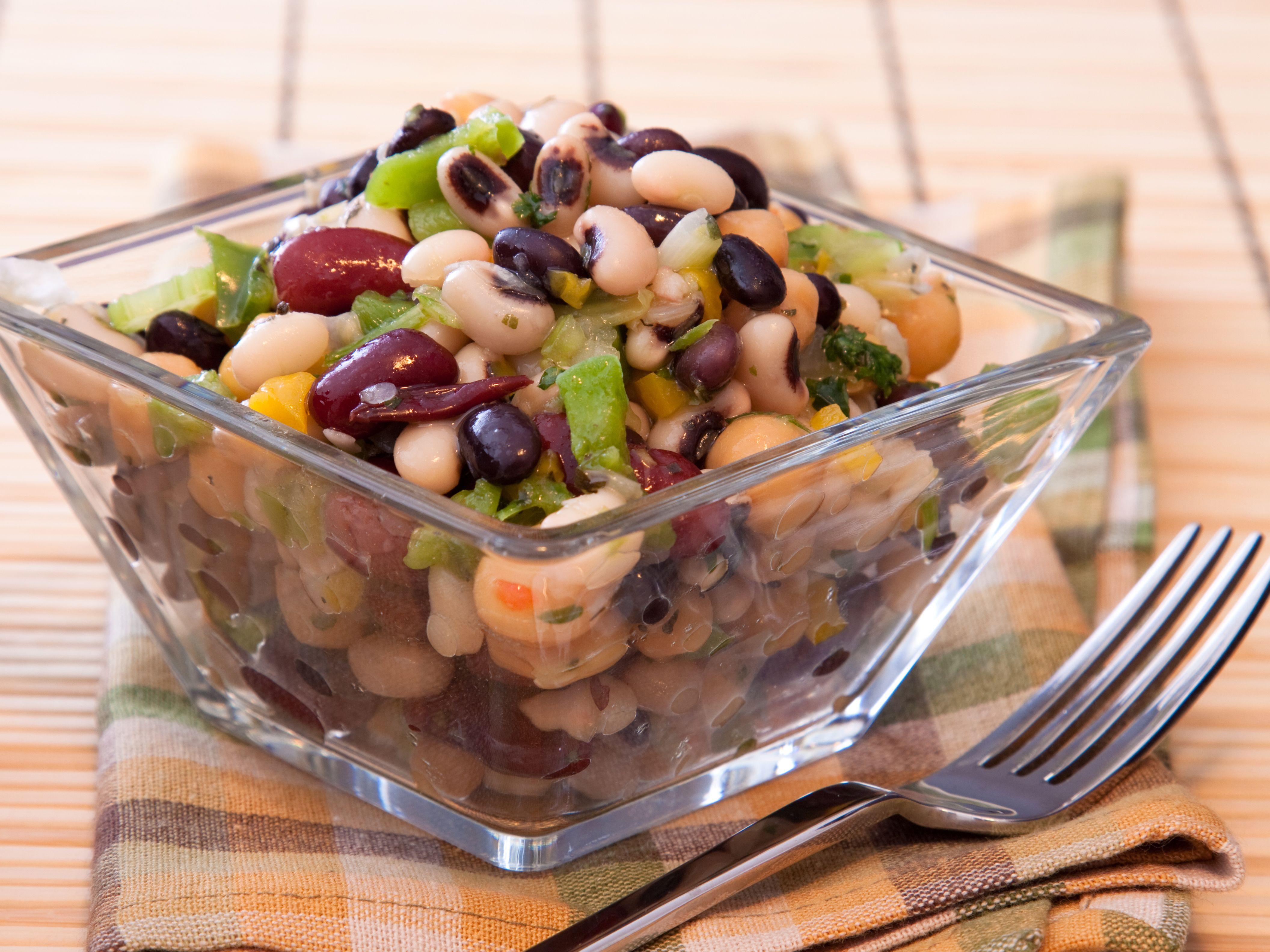Three Bean Salad Recipe Food Recipes Food Vegan Iron