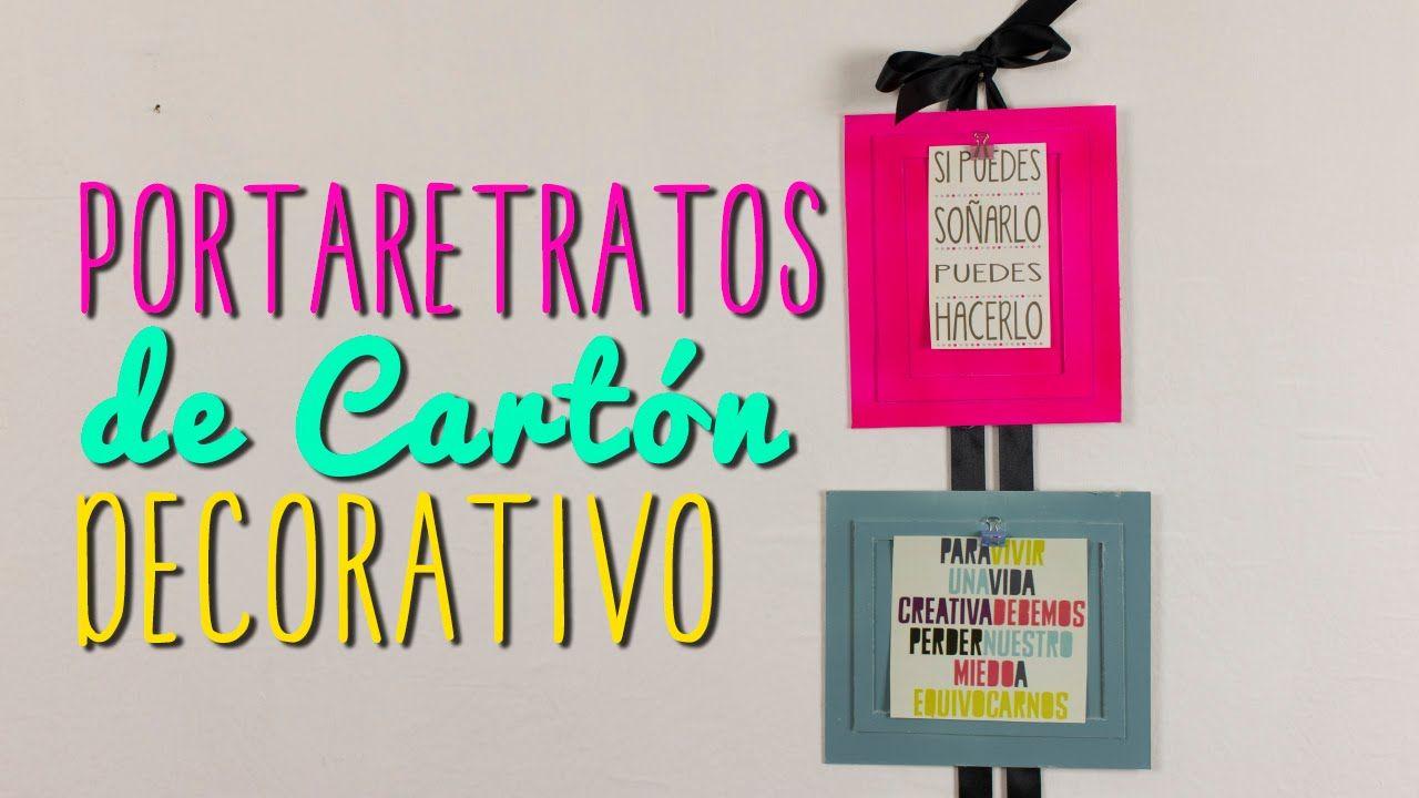 Portaretratos Creativos De Carton Ideas Para Decorar Tu Cuarto