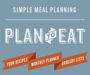 Online meal planner: Plan to Eat (enter for a free 30 day trial)