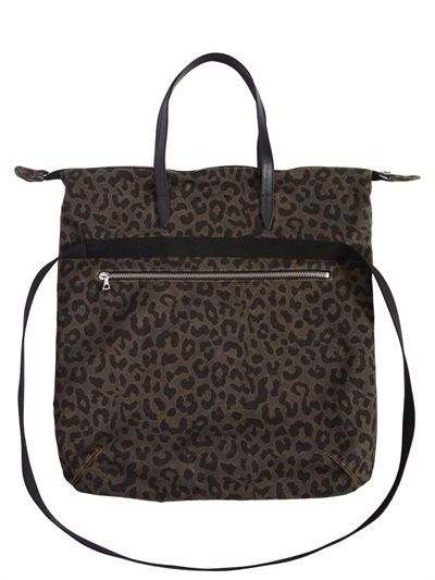 901c5f8007b9 DRIES VAN NOTEN Leopard Printed Cotton Canvas Bag, Mud. #driesvannoten #bags  #canvas #lace #leather #shoulder bags #hand bags #cotton #