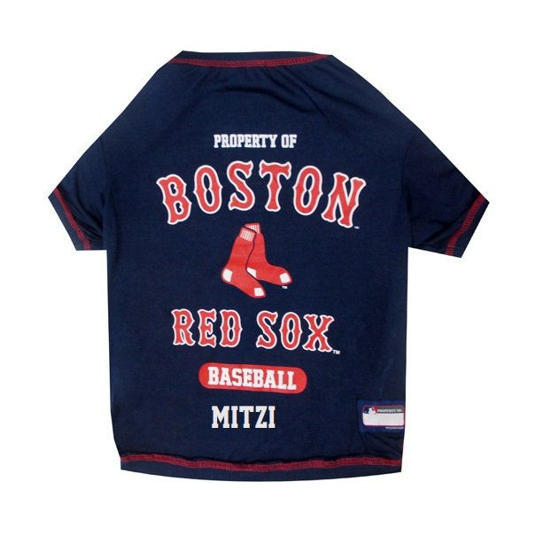 95e76bb0c Boston Red Sox Dog T-Shirt Personalized SM-XL MLB Pet Clothes    pet ...