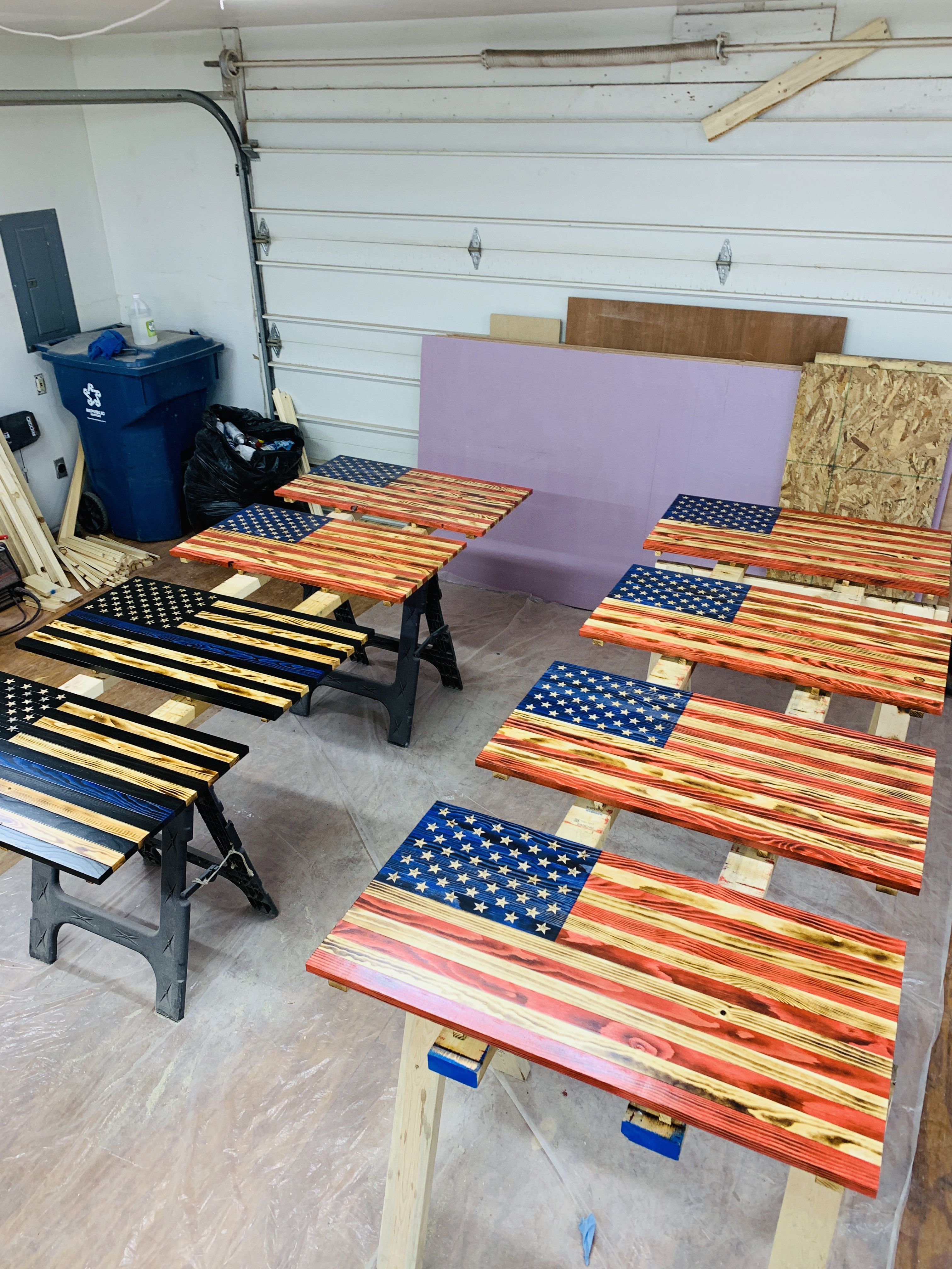 Learn How To Make Your Own Wood American Flag American