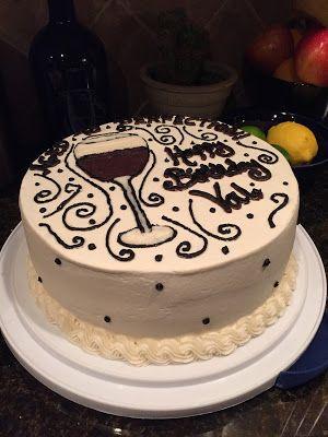 Cat S Cake Creations Wine Glass Birthday Cake Cat S