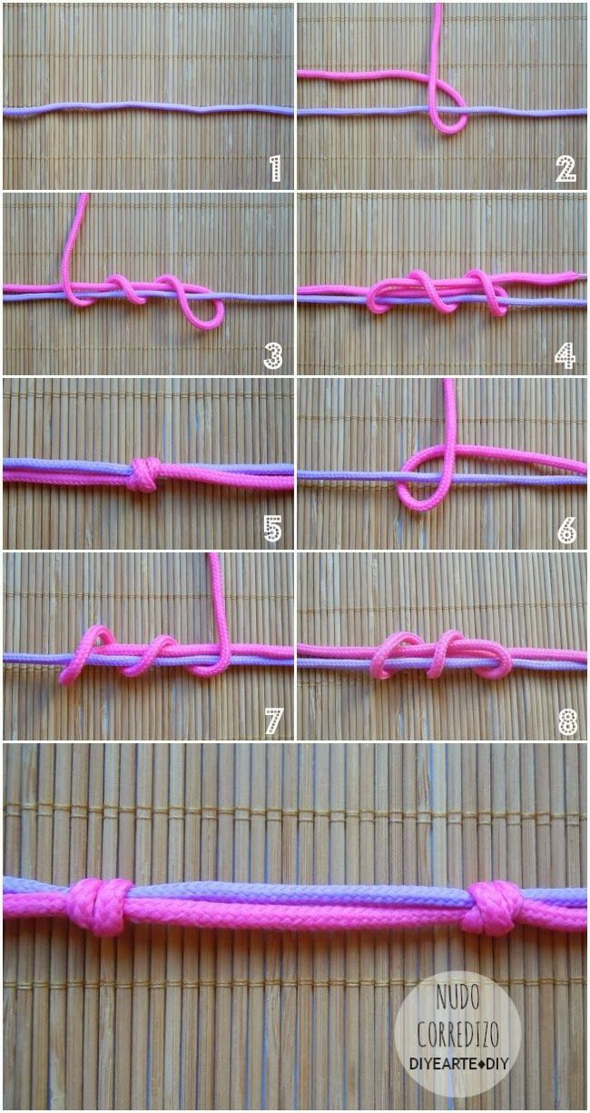 como hacer nudo corredizo para macrame