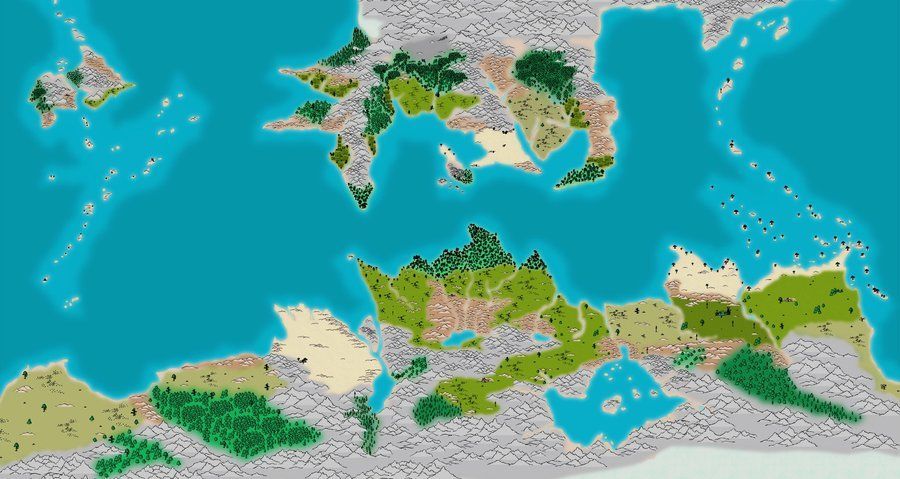 Made using Campaign Cartographer 3  The northern continent