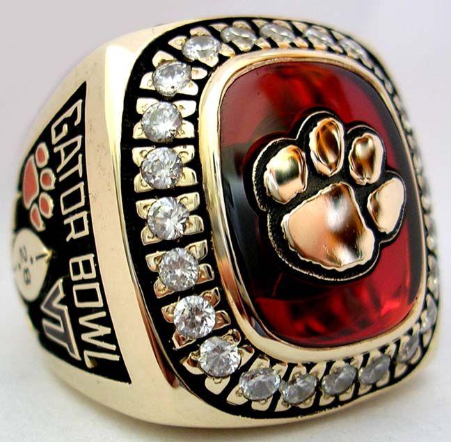 2001 Clemson Tigers Gator Bowl Championship Ring Clemson Ring Gator Bowl Clemson