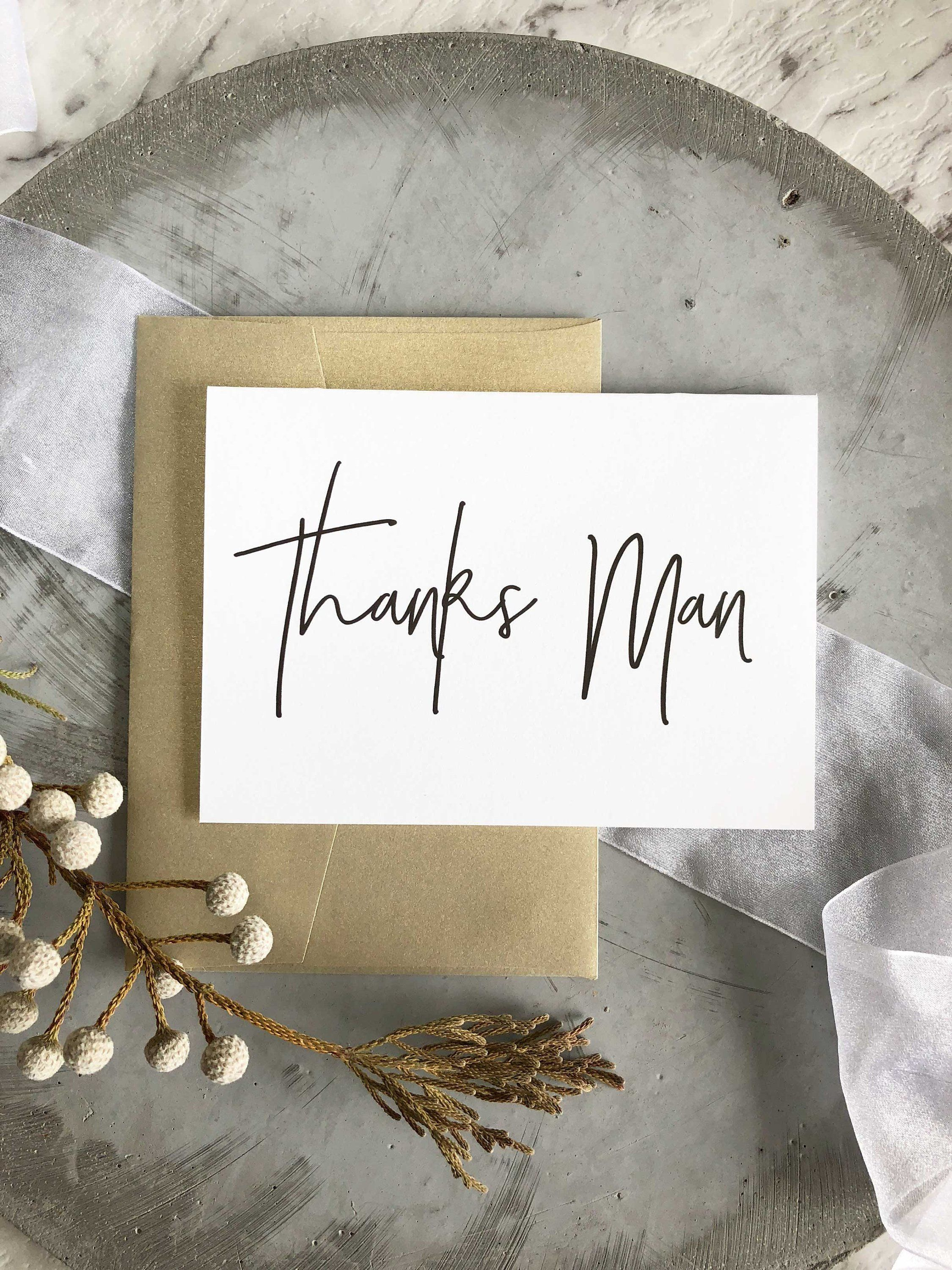 Groomsman Gifts Thanks Man Card By Cocopressdesigns On Etsy