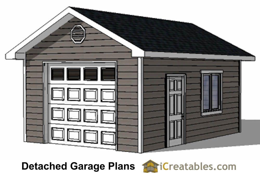 1 Car Garage Plans Storage Building Plans Outdoor Sheds Garage Plans Diy Garage Plans Garage Plans Detached