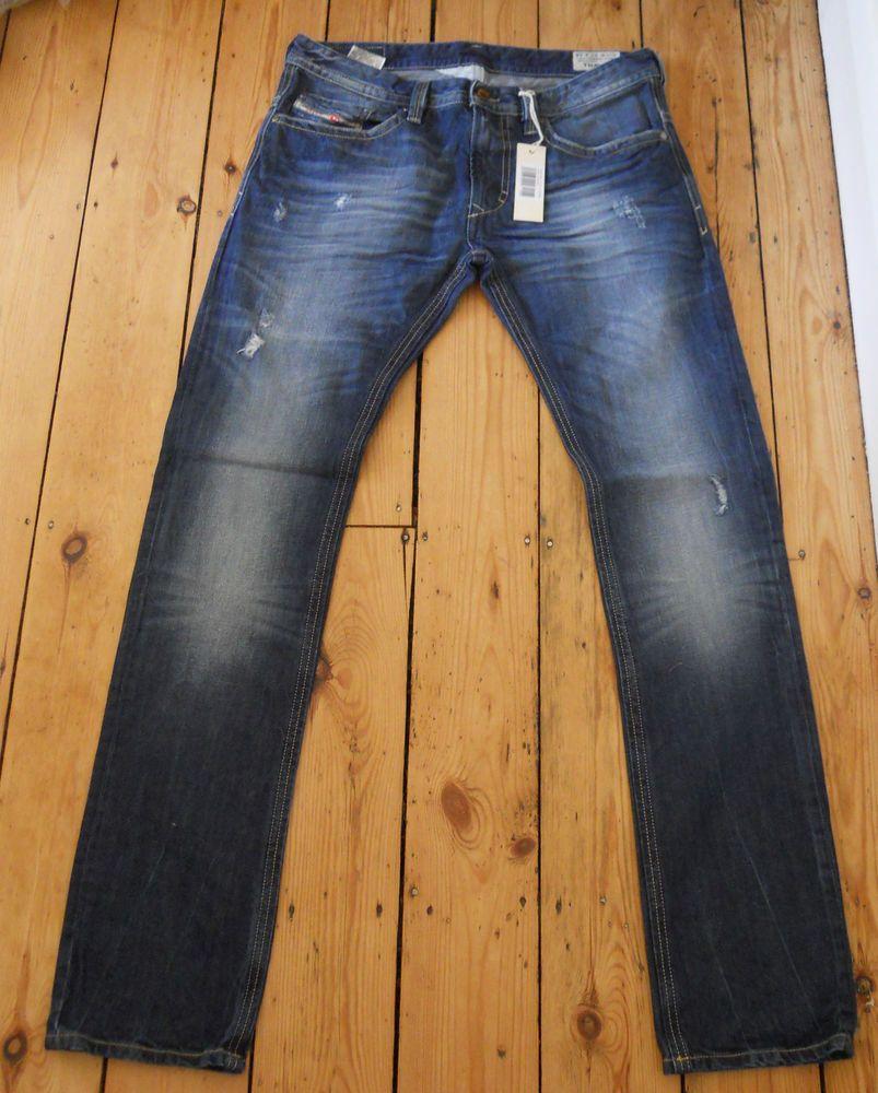 30d40c1d Mens DIESEL Jeans Thavar 8B9 Mens Slim Skinny Denim Authentic New With Tags